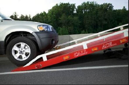 car on the of a tow truck